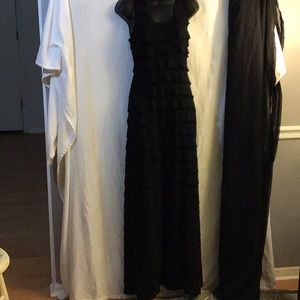 Max Studio Ruffle Tiered Black Maxi Dress Small